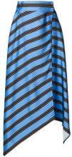 Fendi - asymmetrical hemmed striped skirt - women - Viscose - 44, 42, 40 - BLUE