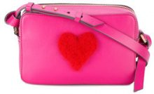 Anya Hindmarch - Borsa a tracolla - women - Leather/Sheep Skin/Shearling - One Size - PINK & PURPLE