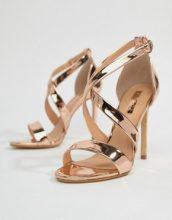 Office - Harper - Sandali con tacco e listini oro rosa - Oro