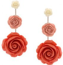 Dannijo - Beck earrings - women - Acrylic - OS - Rosa & viola