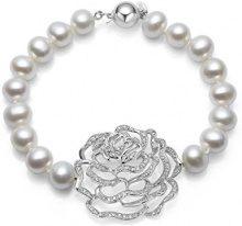 Fei Liu, braccialetto in perle rosa, lunghezza 19,5 cm.