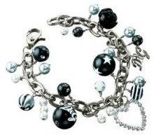 D & G, braccialetto da donna, in lega di metallo con zirconi taglio rotondo trasparente 20cm–dj0571