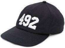 Off-White - Cappello da baseball con numero ricamato - women - Cotton/Polyester - OS - BLUE