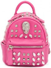 Philipp Plein - Shiny Skull mini backpack - women - Calf Leather - OS - PINK & PURPLE