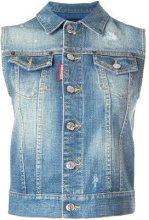 Dsquared2 - Giacca smanicata - women - Cotton/Spandex/Elastane/Aluminium - 42 - BLUE