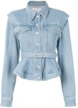 Marques'almeida - Giacca denim con cintura - women - Cotton - XS, S, M - BLUE