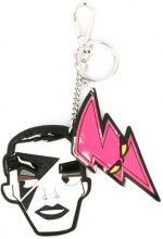Dsquared2 - 'Punk' face dual keyring - women - Cotton/Leather/Polyester/Zama - One Size - WHITE