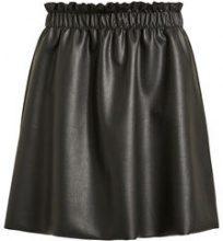 VILA Faux Leather Skirt Women Black