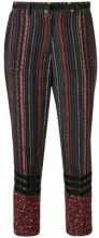 Nº21 - floral stripe cropped trousers - women - Silk - 42, 44, 38, 40 - MULTICOLOUR