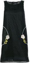 Cavalli Class - Vestito con ricamo floreale - women - Polyester/Acetate - 38 - BLACK
