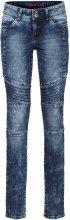 Jeans skinny con impunture modellanti