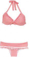Amir Slama - plaid bikini set - women - Polyamide/Spandex/Elastane - M, P, G, GG - Rosso