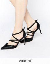 ASOS - STEP UP - Scarpe a punta effetto gabbia con tacco e vestibilità ampia