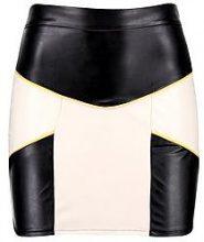 Phillipa PU Contrast Panel Mini Skirt