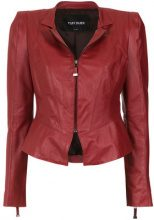 Tufi Duek - fitted waist jacket - women - Leather/Acetate - 36, 38, 40, 42, 44 - Rosso