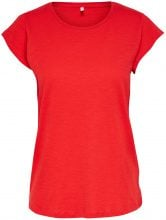 ONLY Short Sleeves T-shirt Women Red