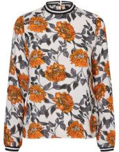VERO MODA Floral Long Sleeved Top Women White