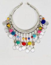 Raga - Collarino con pompon - Multicolore