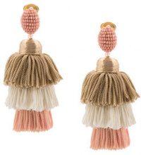 Oscar de la Renta - Orecchini pendenti - women - Silk/Brass/glass - OS - PINK & PURPLE