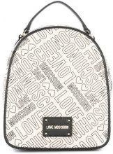 Love Moschino - Zaino con logo stampato - women - Cotton/Linen/Flax/Polyurethane - OS - NUDE & NEUTRALS
