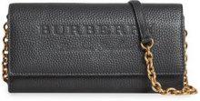 Burberry - Portafoglio con catena - women - Calf Leather/Polyamide - OS - BLACK