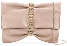 Jimmy Choo - Borsa Clutch 'Chandra' - women - Goat Skin/Brass/Viscose/Silk - One Size - PINK & PURPLE