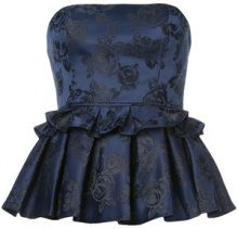 C/Meo - strapless ruffle top - women - Polyester/Cotone - XS, S, M, L - BLUE
