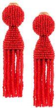 Oscar de la Renta - Orecchini con perline - women - glabridine (licorice) extract/Brass - OS - RED
