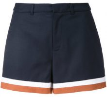 Loveless - striped hem shorts - women - Polyester/Polyurethane/Rayon - 36 - BLUE