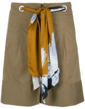 Alcaçuz - drawstring shorts - women - Cotone/Spandex/Elastane/Polyamide - 38 - BROWN