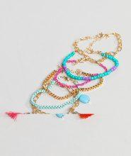 South Beach - Confezione di bracciali blu multi - Multicolore