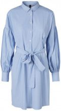 Y.A.S Tie Band Shirt Women Blue