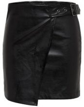 ONLY Leather Look Skirt Women Black