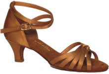 Sandali Vitiello Dance Shoes  Scarpa da donna per ballo latino-americano in raso color tangani