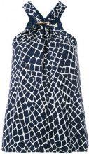 Michael Kors Collection - halterneck blouse - women - Silk/Polyester - L - BLUE
