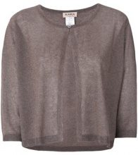 Blanca - Cardigan con bottone singolo - women - Polyester/Viscose - 40, 42, 44, 46, 48 - METALLIC