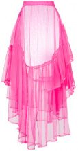 Barbara Bologna - ruffled tulle sheer skirt - women - Polyamide - S - PINK & PURPLE