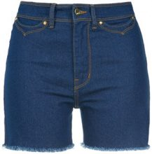 Amapô - high waisted denim shorts - women - Cotone/Polyester/Spandex/Elastane - 36, 38, 40, 42, 44 - BLUE