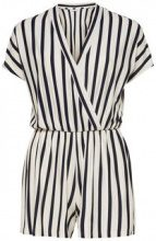 ONLY Striped Playsuit Women White