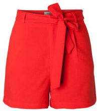 PIECES High Waist Shorts Women Red