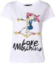 Love Moschino - T-shirt con logo - women - Cotton/Spandex/Elastane - 40, 42, 44 - WHITE