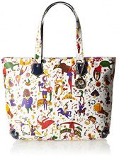 Piero Guidi 21B87 Magic Circus Soft Borsa Tote, Sintetico, Blu Oltremare, 30 cm