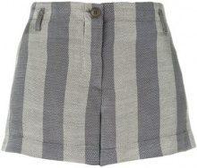 Giorgio Armani Vintage - striped mini shorts - women - Cotton/Ramie/Polyamide/Viscose - 42 - GREY