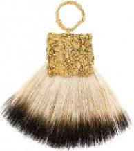 Niza Huang - Orecchino a ventaglio - women - Brass/goat hair - OS - NUDE & NEUTRALS