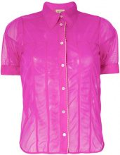 Nº21 - contrast hem sheer shirt - women - Polyamide - 40, 42, 44 - PINK & PURPLE