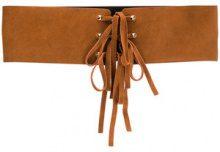 Twin-Set - Cintura con lacci - women - Calf Leather - 90, 100, 95 - BROWN