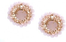 Serpui - embellished earrings - women - metal - OS - PINK & PURPLE