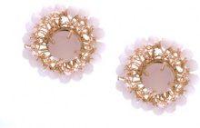 Serpui - embellished earrings - women - metal - OS - Rosa & viola