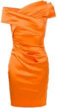 Talbot Runhof - Abito con arricciature - women - Polyamide/Polyester/Spandex/Elastane/Viscose - 38, 40, 42, 44 - YELLOW & ORANGE