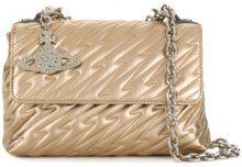 Vivienne Westwood - Borsa a spalla 'Coventry' - women - Leather/Nylon - OS - METALLIC